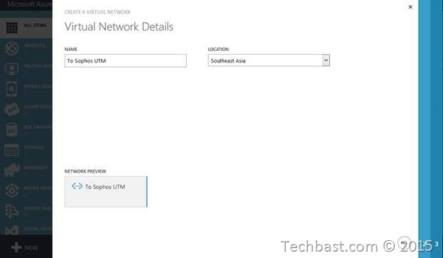 Step by step Site to site VPN Microsoft Azure and Sophos UTM
